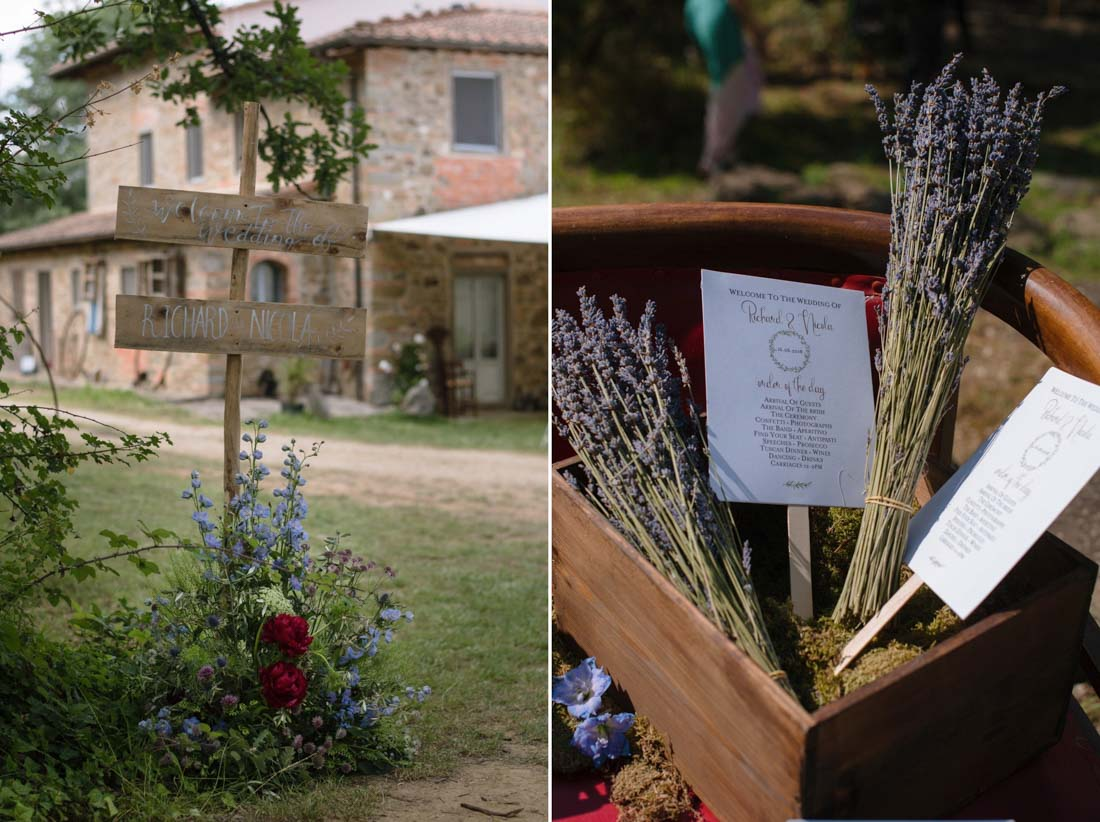 British wedding in Tuscany